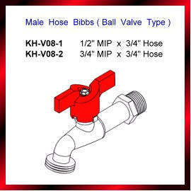 Male Hose Bibbs ( Ball Valve Type )