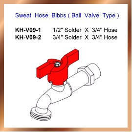 Sweat Hose Bibbs ( Ball Valve Type )