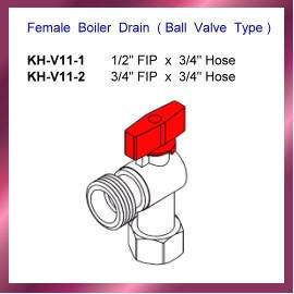Female Boiler Drain ( Ball Valve Type )
