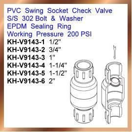 PVC Swing Socket Check Valve (ПВХ Swing Socket Обратный клапан)