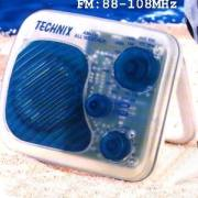 Portable Water Resistant AM/FM Radio in Translucent Color