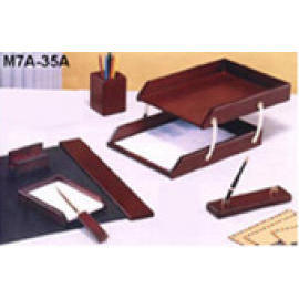 WOOD DESK SET