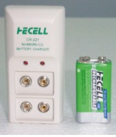 Consumer Ni-MH Rechargeable Battery- 9V + Charger (Consumer Ni-MH Rechargeable Battery-9V + Chargeur)