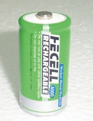 Consumer Ni-MH Rechargeable Battery-C Size (Consumer Ni-MH Rechargeable Battery-C Dimensions)