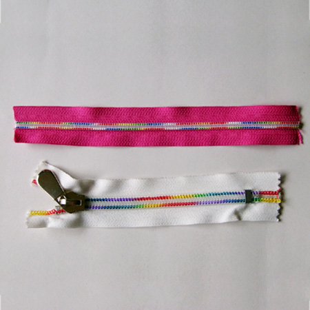 Zippers of various colors,zipper