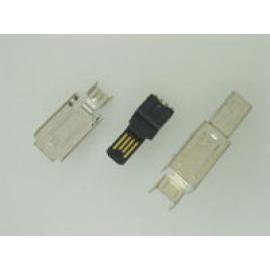 MINI USB 4PIN PLUG SOLDER TYPE FOR ASSEMBLY CABLE (MINI USB 4PIN PLUG СПЛАВЫ ТИПА ДЛЯ кабель)