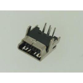 MINI USB 5PIN SOCKET PCB DIP RIGHT ANGLE TYPE (MINI USB 5pin PCB SOCKET DIP УГЛОВАЯ типа)