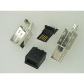 MINI USB 5PIN PLUG SOLDER TYPE FOR ASSEMBLY CABLE (MINI USB 5pin PLUG СПЛАВЫ ТИПА ДЛЯ кабель)