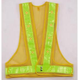 LED & reflective safety vest (Светодиодные & отражающей Жилет безопасности)