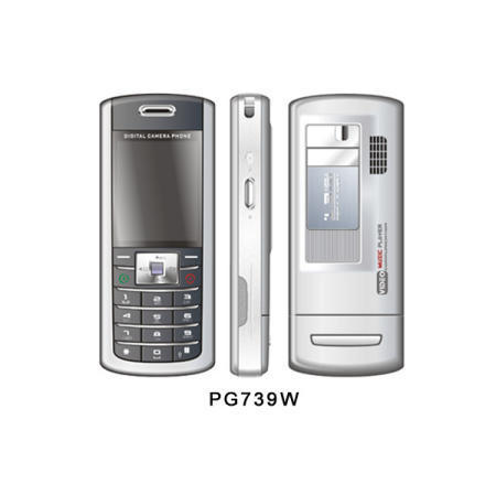 PG739 GSM Phone with MP3 and MP4 player + 1.3 MP camera