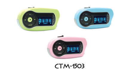 CTM-1503 Stylish USB 2.0 Flash MP3 Player Powered by a Li-Ion Battery