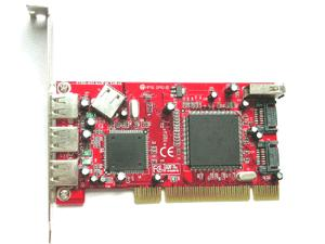 Low Profile SATA-150 + USB2.0 Combo 7 Ports PCI Host (Низкий профиль SATA 50 + USB2.0 Combo 7 портов PCI Host)