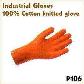 100% Cotton knitted glove P106 (100% хлопок трикотажные перчатки P106)