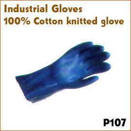 100% Cotton knitted glove P107 (100% хлопок трикотажные перчатки P107)