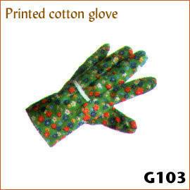 Printed cotton glove G103 (Ситца перчатки G103)