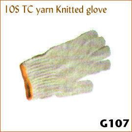 10S TC yarn Knitted glove G107 (10S ТК пряжи трикотажные перчатки G107)