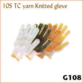 10S TC yarn Knitted glove G108 (10S ТК пряжи трикотажные перчатки G108)