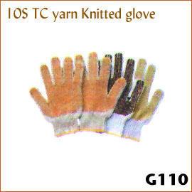 10S TC yarn Knitted glove G110 (10S ТК пряжи трикотажные перчатки G110)
