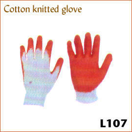Cotton knitted glove L107