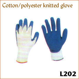 Cotton/polyester knitted glove L202