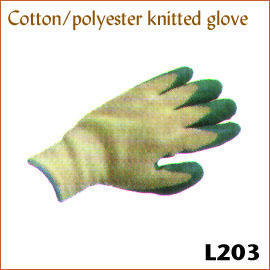 Cotton/polyester knitted glove L203