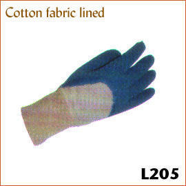 Cotton fabric lined L205
