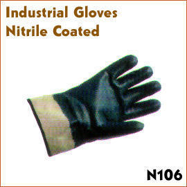 Industrial Gloves Nitrile Coated