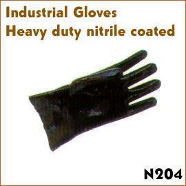 Heavy duty nitrile coated
