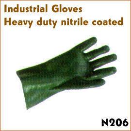 Heavy duty nitrile coated (Тяжелые обязанности нитриловые покрытых)