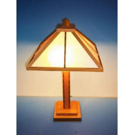 Wooden Mission Lamp