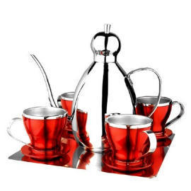 stainless steel coffee pot sets (stainless steel coffee pot sets)
