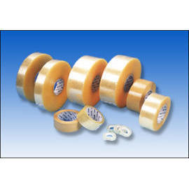 OPP packing tape transparent, super transparent, light yellow, earth brown
