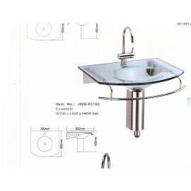 Sanitary Ware, Glass Wash-Basin.