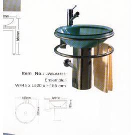 Sanitary Ware, Glass Wash-Basin. (Сантехника, стекло умывальник.)