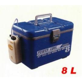 Fishing tackle box--pump