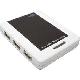 USB2.0 Card Reader & Hub Combo (USB2.0 Card Reader & концентратор Combo)