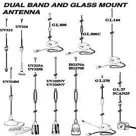 Dual Band And Glass Mount Antenna