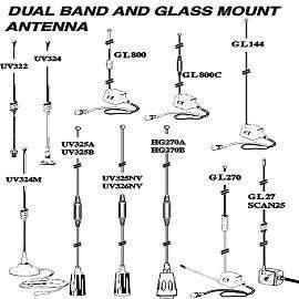 Dual Band And Glass Mount Antenna (Dual Band Стекло и крепления антенных)