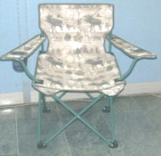Deluxe Folding Chair w/arms in Outdoor Printed (Deluxe Folding Chair без оружия в наружной Печатный)