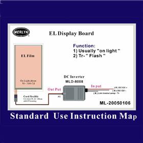 EL Panel with MLD-8008 (EL панель с MLD-8008)