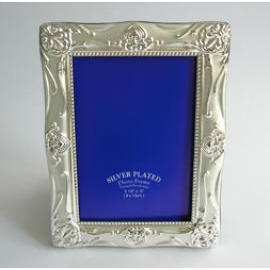 silver metal photo frame, gift, souvenir