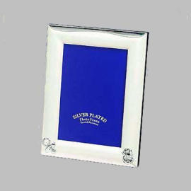 silver plated photo frame, metal photo frame