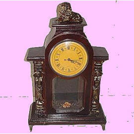 wooden antique clock