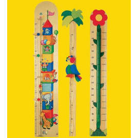 colorful wooden ruler