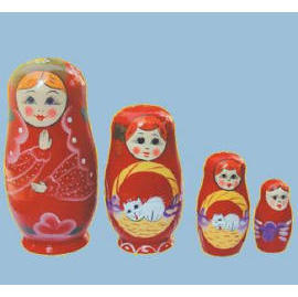 russian wooden stacking dolls