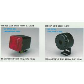 Car back horn & light, Mini siren horn (Автомобиль B k Horn & света, мини-сирена Роге)