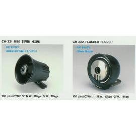 Mini Siren Horn,Flasher Buzzer (Мини сирена Роге, Flasher зуммер)