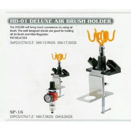 Air brush holder, deluxe type