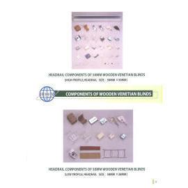 HEADRAIL COMPONENTS OF 50MM WOODEN VENETIAN BLINDS (HEADRAIL КОМПОНЕНТЫ 50 мм ДЕРЕВЯННЫЕ ЖАЛЮЗИ)