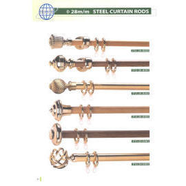 DIA. 28MM STEEL CURTAIN RODS (DIA. 28mm СТАЛИ КАРНИЗЫ ДЛЯ ШТОР)